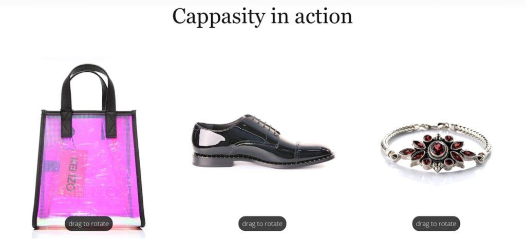 Examples of Cappasity functionalities.