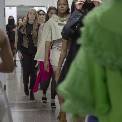 runway repurposed fashion show