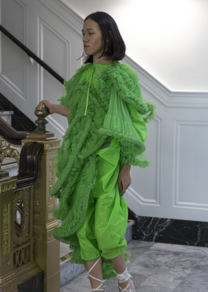 Jianhul Deng green dress