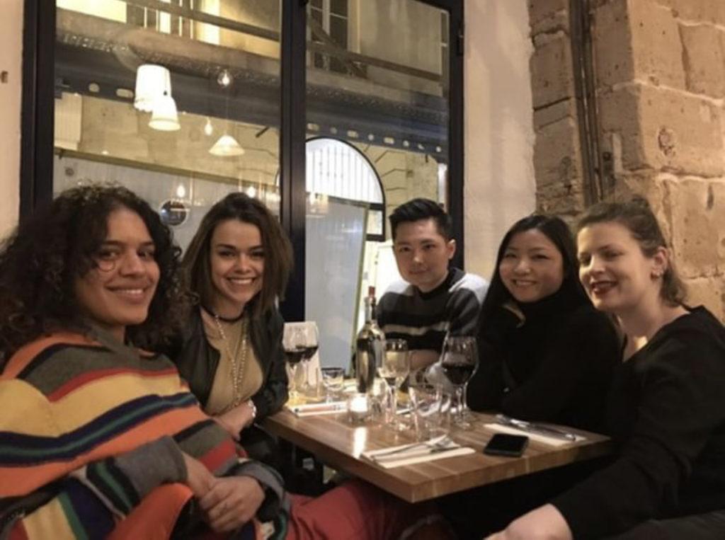 students at fashion week in paris 2019
