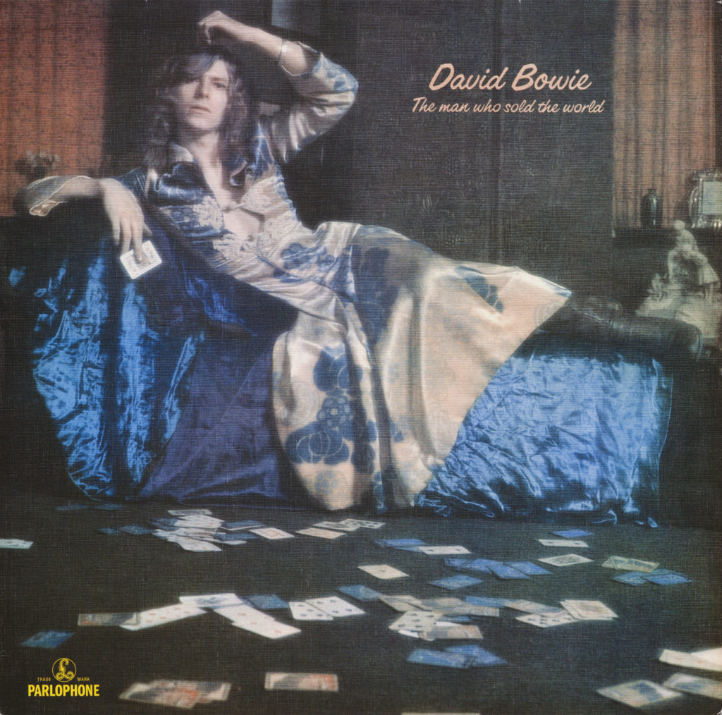 David Bowie's The Man Who Sold the World album cover 1970. Courtesy: Museum of Fine Arts, Boston