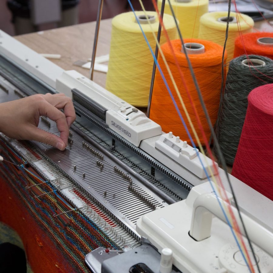 Dubied industrial knitting machine. Photo by Danielle Rueda.