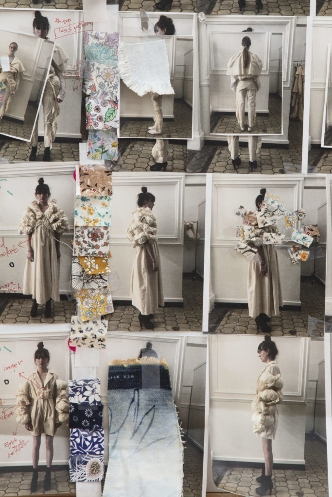 Mood board for Abby Yang's graduate collection. Photography by Danielle Rueda