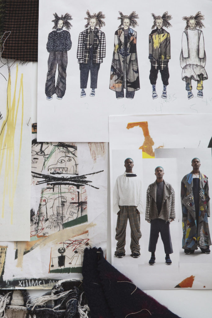 Moodboard for Chelsea Grays' graduate collection. Photography by Danielle Rueda