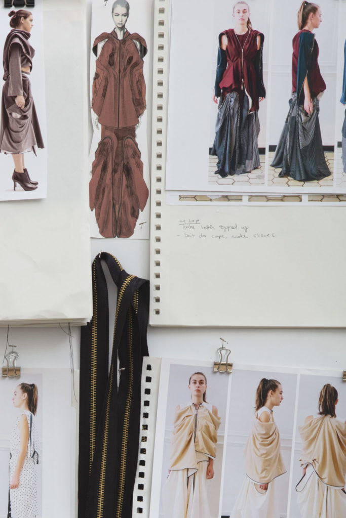Moodboard for Hanbit Ku's collection. Photography by Danielle Rueda.