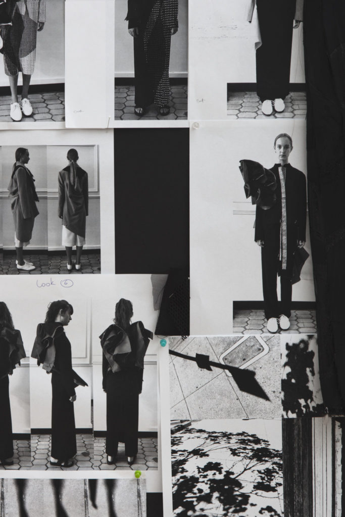 Moodboard for the collection by Yaryna Zhuk, MFA Fashion Design. Phography by Danielle Rueda