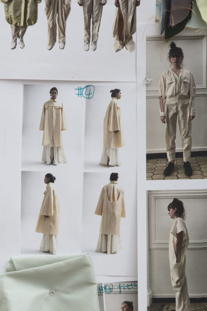 Mood board for Yi Pan' graduate collection. Photography by Danielle Rueda